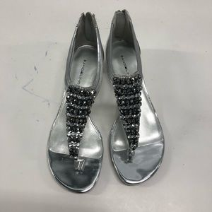 Brand new silver wedge sandals